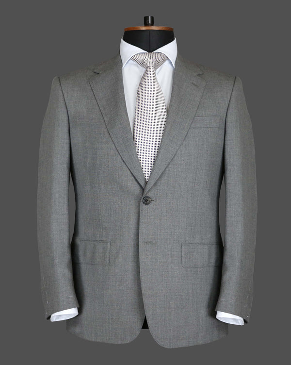 TLA006 - Mid Grey Plain Suit