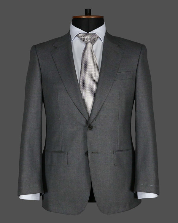 TLA019 - Plain Mid Grey Suit