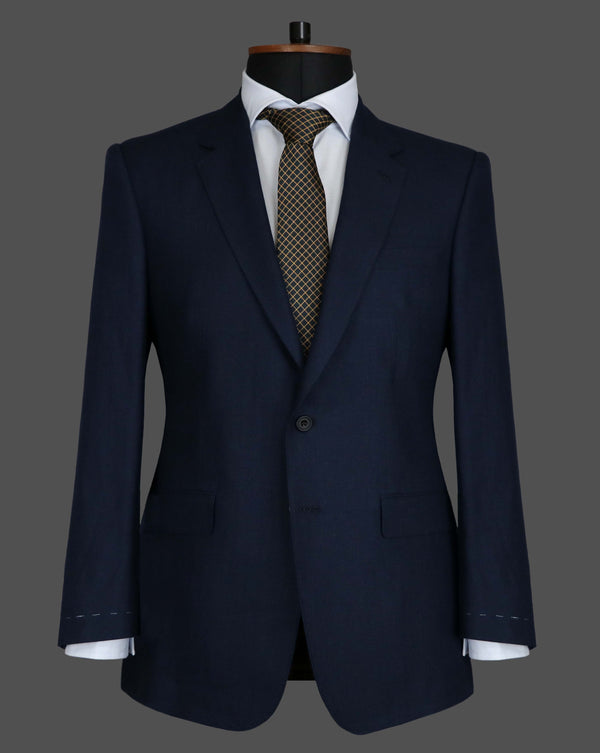 TLA001 - Navy Herringbone Suit