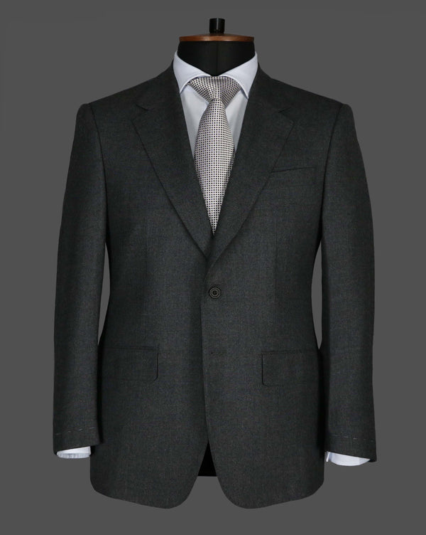 TLA020 - Plain Mid Grey Flannel Suit