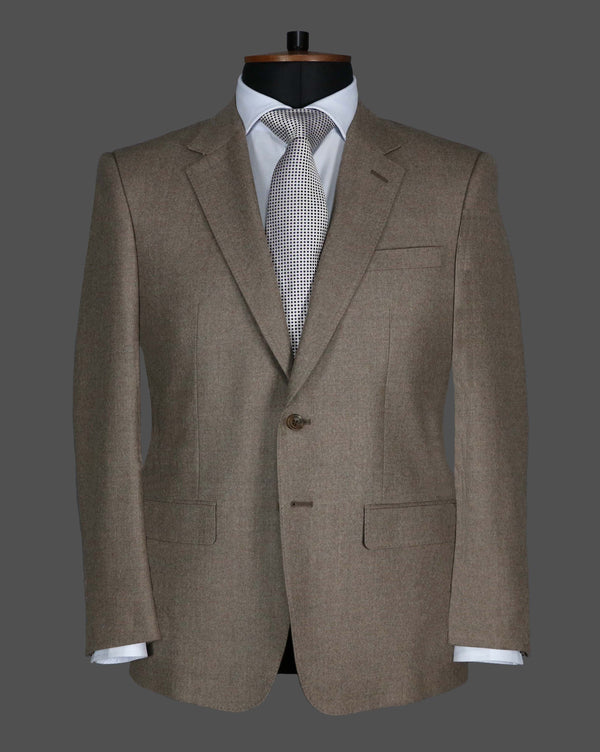 TLA029 - Plain Light Brown Suit