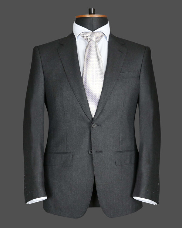 TLA034 - Plain Dark Grey Suit