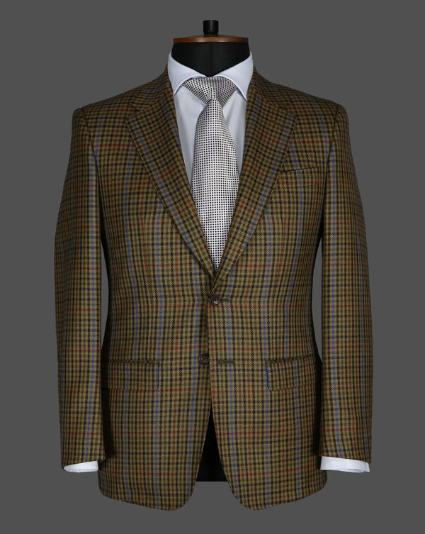 TLA033 - Brown / Blue / Red Check Jacket