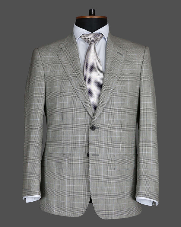 TLA043 - Pale Blue Prince of Wales Check Suit