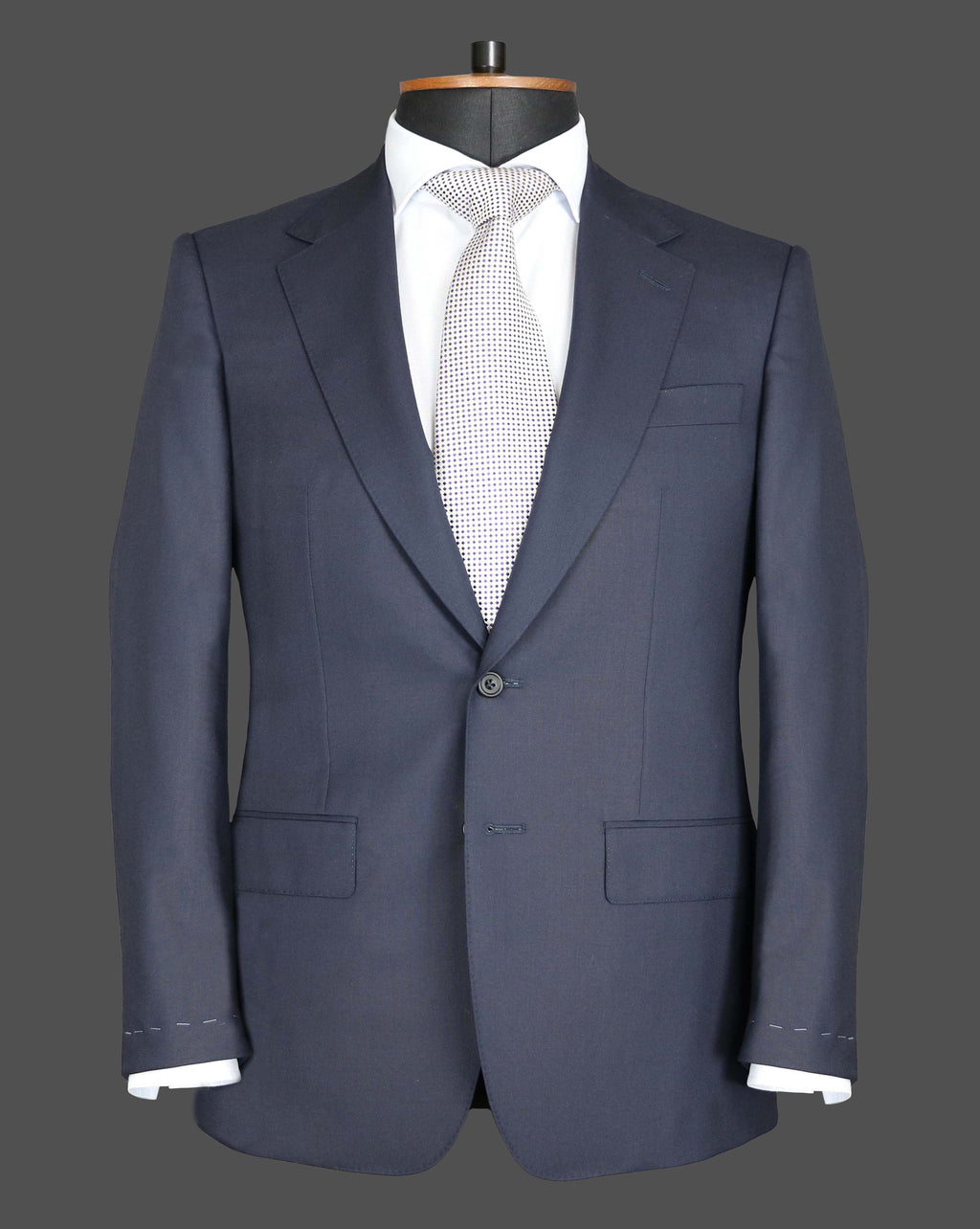 TLA064 - Plain Midnight Navy Suit