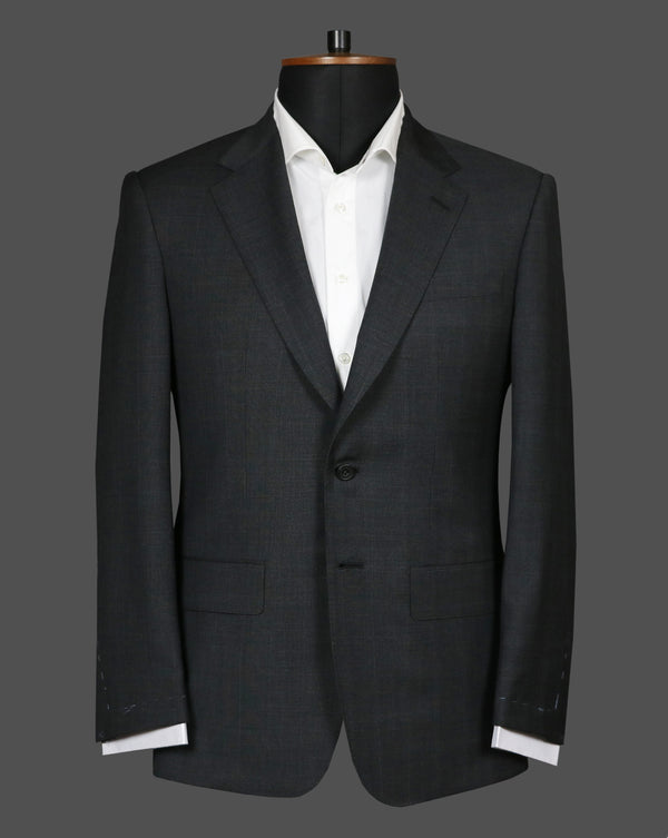 TLA073 - Dark Grey Check Suit