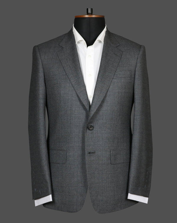 TLA074 - Dark Grey Self Check Pattern Suit