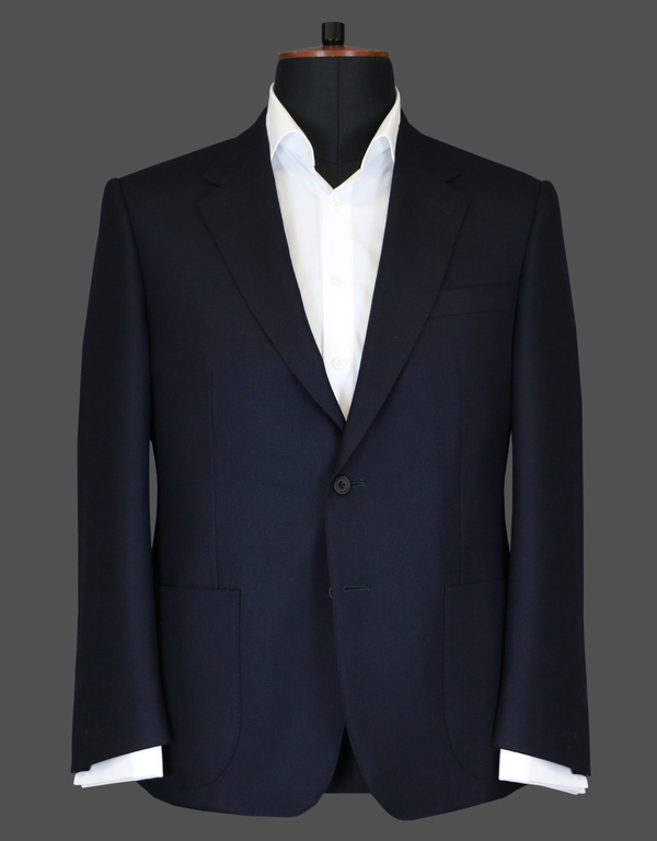 TLA056 - Navy Basket Weave Jacket