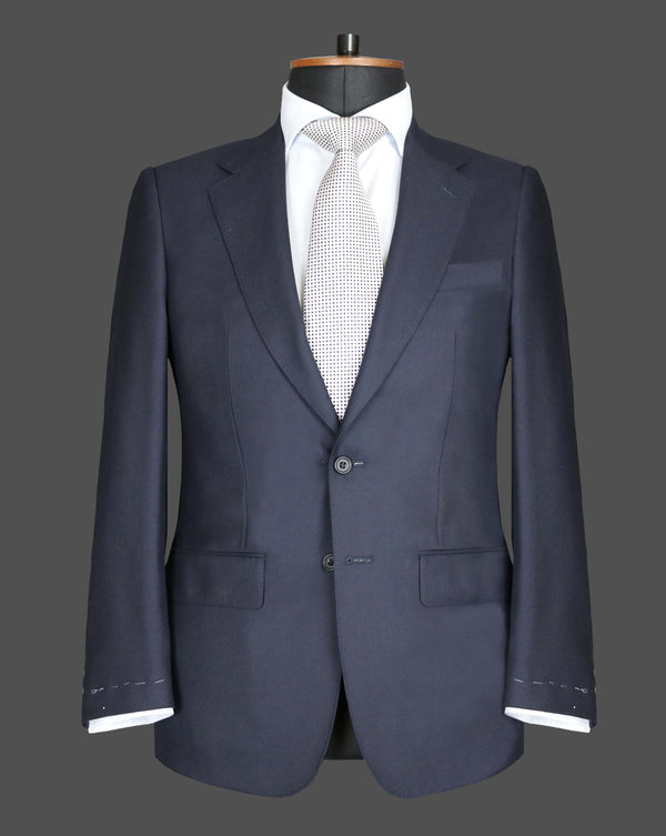 TLA022 - Plain Midnight Navy Suit
