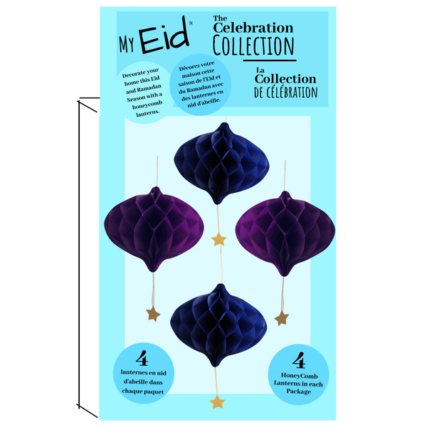 Eid and Ramadan My Eid Celebration Collection Decorative Paper Lanterns/ Honeycombs