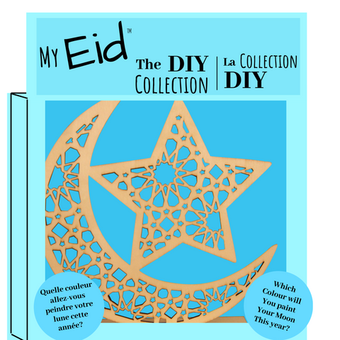 Also Sophia, Wood Moon DIY Decoration, My Eid DIY Collection