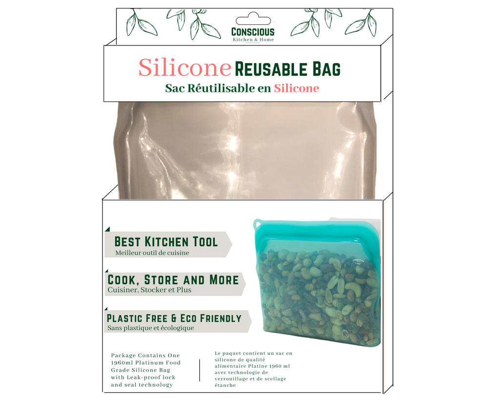 Clear Platinum Silicone Bag- Size Large 1960mL