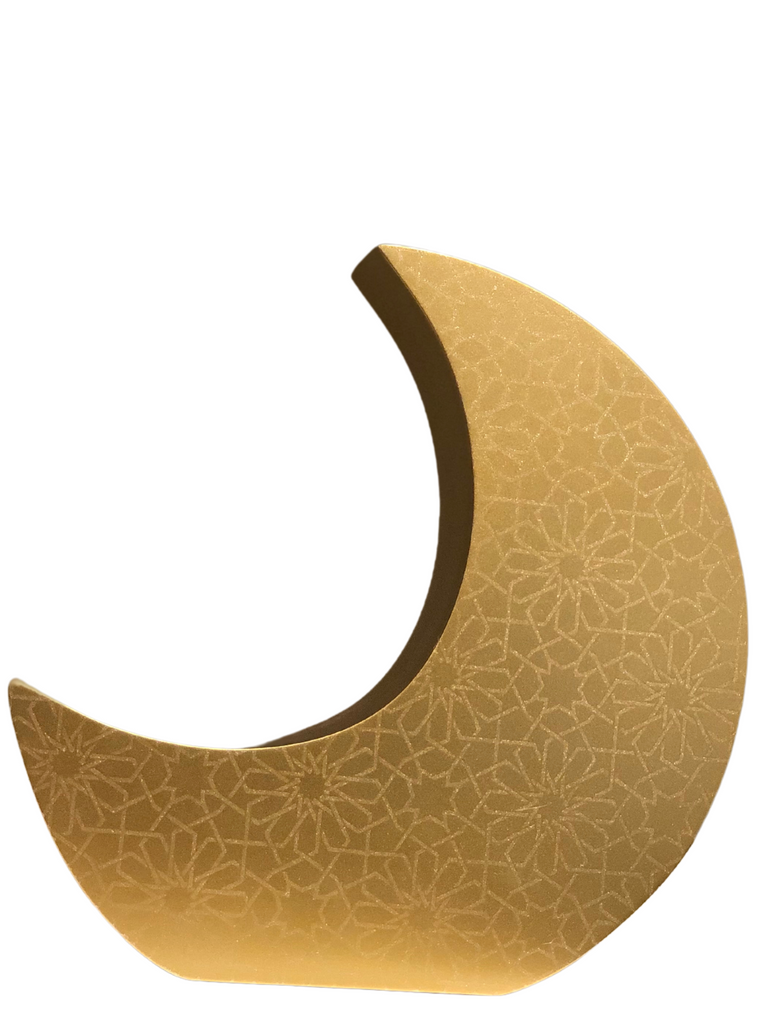Crescent Moon Charity (Sadaqah) Coin Bank - Traditional Gold