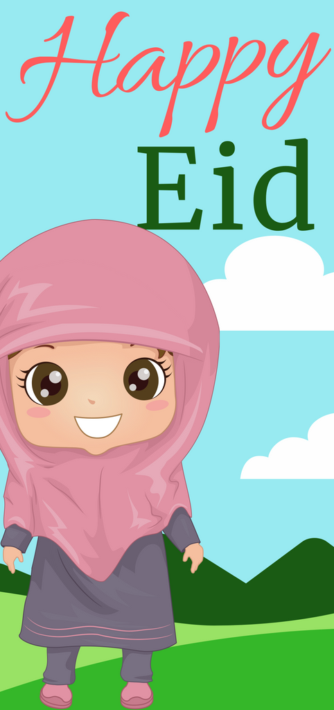 PICKUP ONLY -10 Pack of The Little Girl Happy Eid Money Envelope