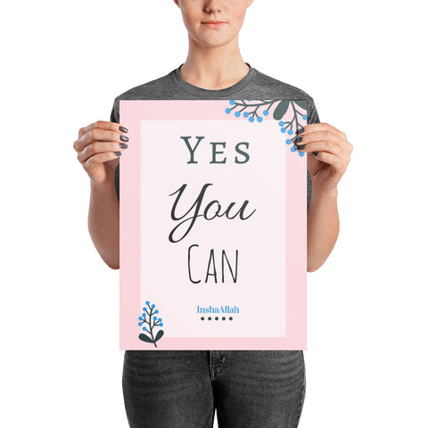 Yes You Can InshaAllah Wall Poster
