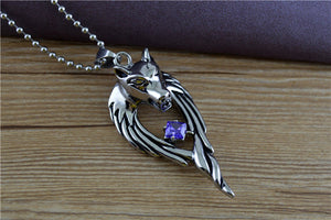 Titanium Plated Wolf Necklace - Ahoo store