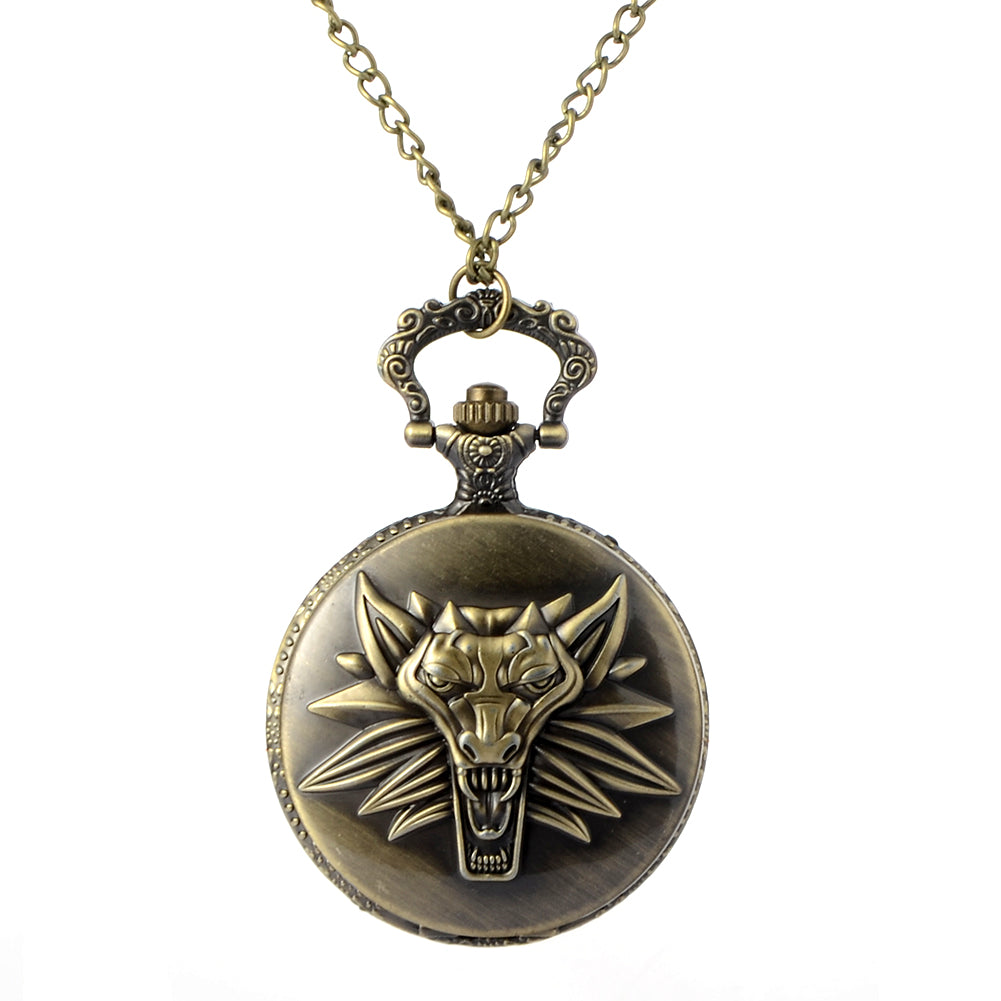 The Witcher Wolf Pocket Watch - Ahoo store