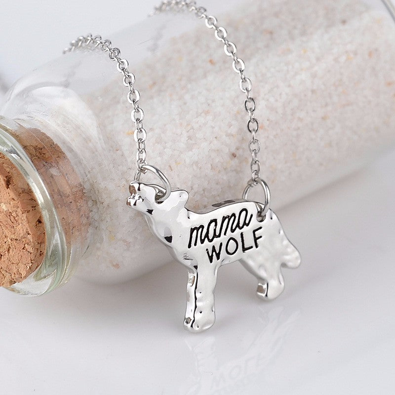 Mama Wolf/Bear Pendant Necklace - Ahoo store