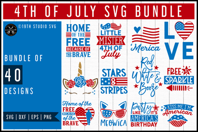 4th of July SVG Bundle | MB55 Craft House SVG - SVG files for Cricut and Silhouette