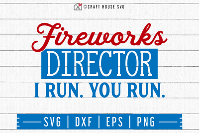 4th of July SVG file | Fireworks director SVG Craft House SVG - SVG files for Cricut and Silhouette