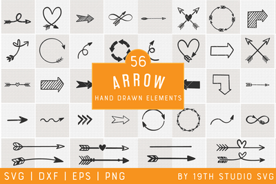Arrows Illustration Bundle | VB34 Craft House SVG - SVG files for Cricut and Silhouette