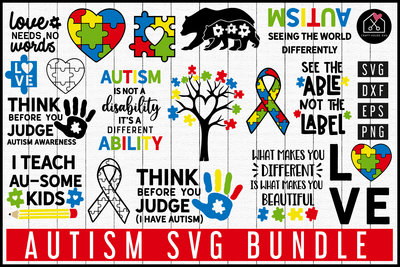 Autism SVG Bundle | MB84 Craft House SVG - SVG files for Cricut and Silhouette