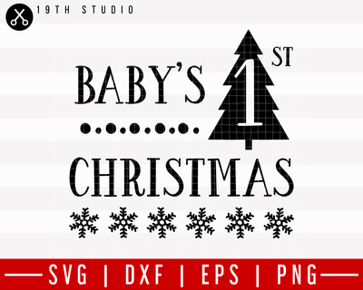 Baby's Fitst Christmas 2 SVG | M21F6 Craft House SVG - SVG files for Cricut and Silhouette