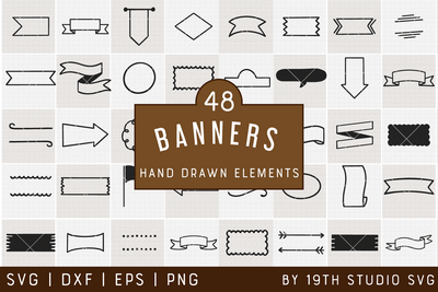 Banners Illustration Bundle | VB42 Craft House SVG - SVG files for Cricut and Silhouette