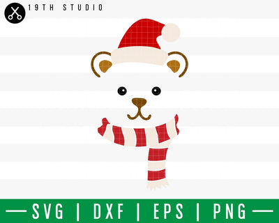 Bear Chritsmas SVG | M42F1 Craft House SVG - SVG files for Cricut and Silhouette