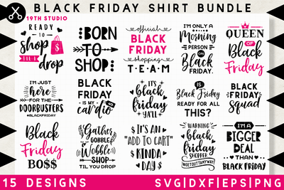 Black Friday shirt SVG bundle - M35 Craft House SVG - SVG files for Cricut and Silhouette
