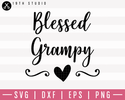Blessed Grampy SVG | M1F7 Craft House SVG - SVG files for Cricut and Silhouette