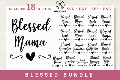 Blessed SVG bundle - M1 Craft House SVG - SVG files for Cricut and Silhouette