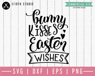 Bunny kisses Easter wishes SVG | M46F | An Easter SVG cut file Craft House SVG - SVG files for Cricut and Silhouette
