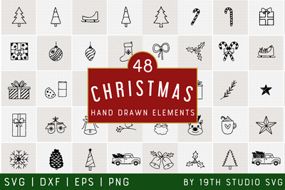 Christmas Illustration Bundle | VB40 Craft House SVG - SVG files for Cricut and Silhouette