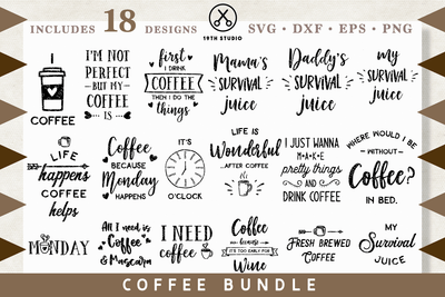 Coffee SVG bundle - M7 Craft House SVG - SVG files for Cricut and Silhouette