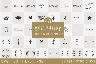 Decorative Elements | VB35 Craft House SVG - SVG files for Cricut and Silhouette