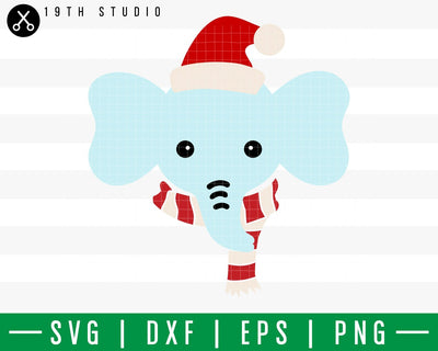 Elephant Chritsmas SVG | M42F4 Craft House SVG - SVG files for Cricut and Silhouette