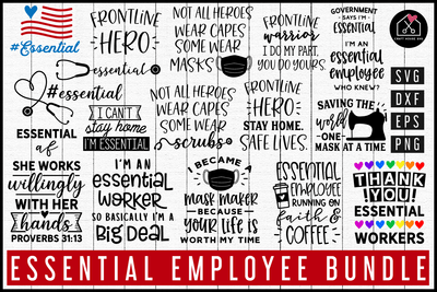 Essential Employee SVG Bundle | MB77 Craft House SVG - SVG files for Cricut and Silhouette