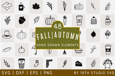 Fall Illustration Bundle | VB39 Craft House SVG - SVG files for Cricut and Silhouette