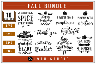Fall SVG bundle - M6 Craft House SVG - SVG files for Cricut and Silhouette