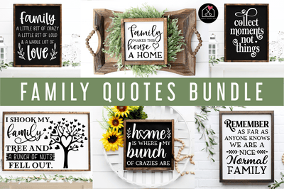 Family SVG Bundle | MB83 Craft House SVG - SVG files for Cricut and Silhouette