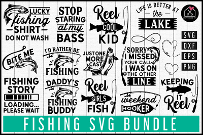 Fishing SVG Bundle | MB78 Craft House SVG - SVG files for Cricut and Silhouette