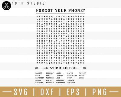 Forgot your phone word search SVG | M32F4 Craft House SVG - SVG files for Cricut and Silhouette