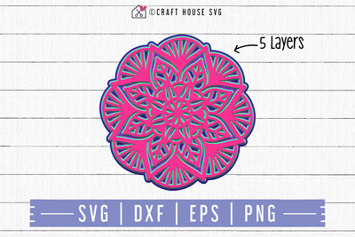 FREE 3D Layered Mandala SVG | FB91 Craft House SVG - SVG files for Cricut and Silhouette