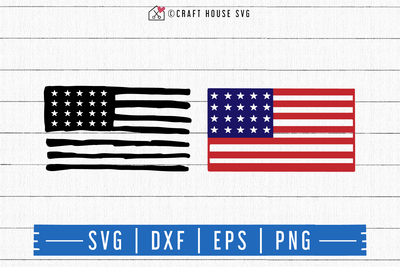 FREE American Flag SVG | FB115 Craft House SVG - SVG files for Cricut and Silhouette
