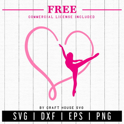 FREE | Ballerina SVG | FB17 Craft House SVG - SVG files for Cricut and Silhouette