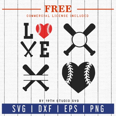 FREE Baseball Monogram SVG cut file | FB35 Craft House SVG - SVG files for Cricut and Silhouette
