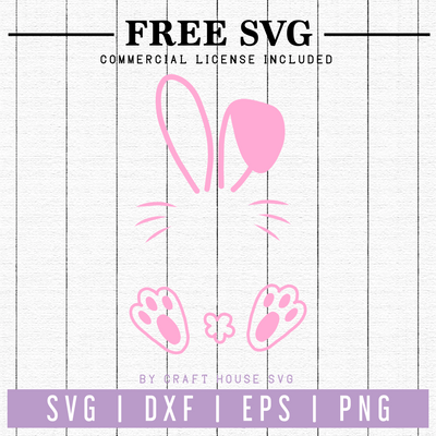 Free Bunny Monogram SVG | FB61 Craft House SVG - SVG files for Cricut and Silhouette