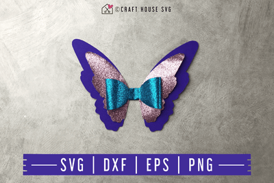 FREE Butterfly Hair bow SVG | FB126 Craft House SVG - SVG files for Cricut and Silhouette