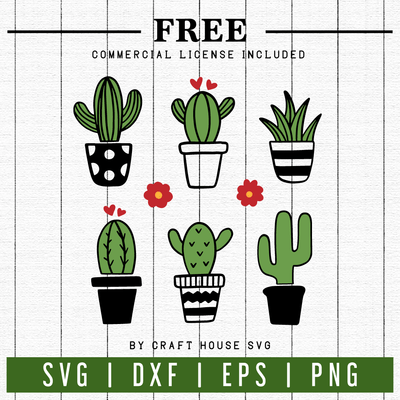FREE | Cactus SVG | FB26 Craft House SVG - SVG files for Cricut and Silhouette